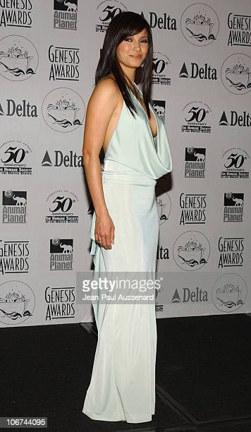 Kelly Hu during The 18th Annual Genesis Awards and 50th Anniversary of the Humane Society of the United States Pressroom at Beverly Hilton in Beverly...