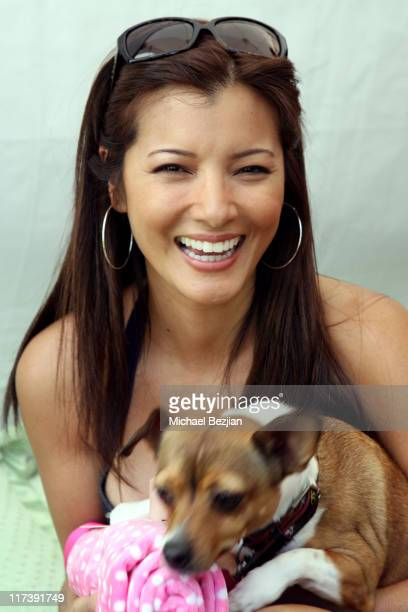 Kelly Hu during The Silver Spoon Hosts 4th Annual Dog and Baby Buffet Day One at Wattles Mansion in Hollywood California United States Photo by...