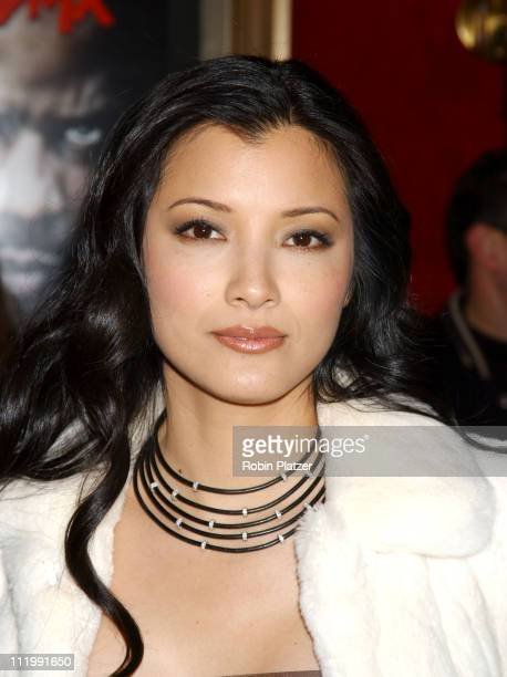Kelly Hu in Elie Saab during World Premiere of Cradle 2 The Grave at Ziegfeld Theater in New York New York United States