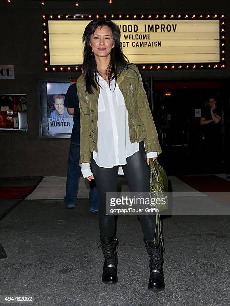 Kelly Hu is seen arriving at the Improv Comedy Club on October 28 2015 in Los Angeles California