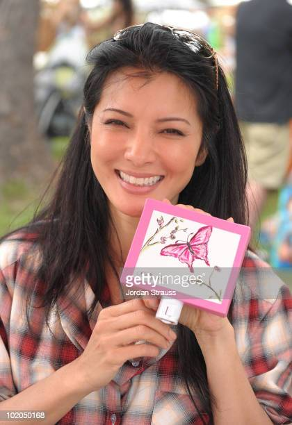 Kelly Hu participates at the Oopsy daisy Art Booth at Elisabeth Glaser Pediatric Aids Carnival at Wadsworth Theater on June 13 2010 in Los Angeles...