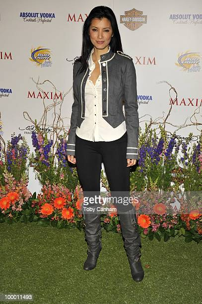 Kelly Hu poses for a picture at the 11th Annual Maxim Hot 100 Party on May 19 2010 in Los Angeles California