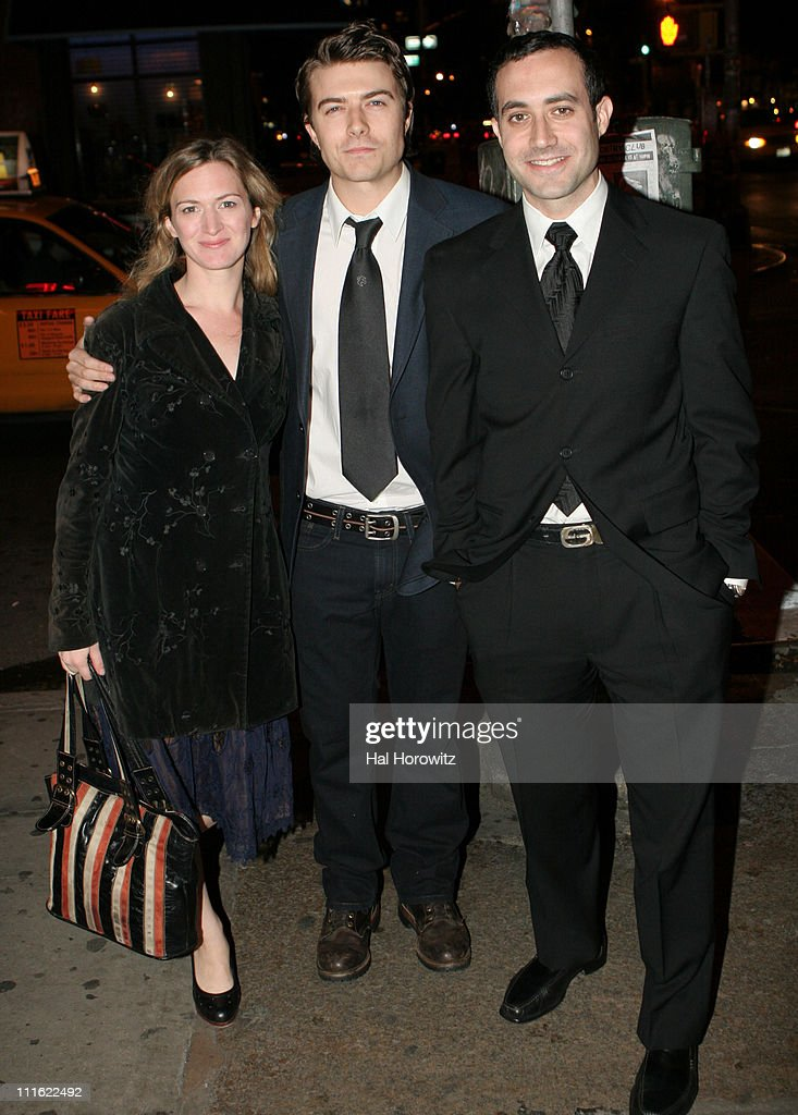 Kelly Hutchinson, Noah Bean and Randy Baruh during 'The Voyage Of The Carcass' - Opening Night Party at Mannahattah in New York City, New York, United States.