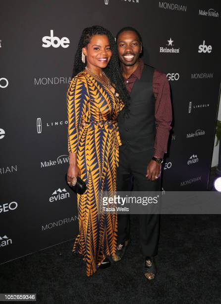 Kelly Jenrette and Melvin Jackson Jr. Attend Taste of SBE'S Grand Dinner at Skybar at Mondrian Los Angeles to benefit Make-A-Wish Foundation with...