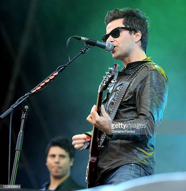 Kelly Jones and Adam Zindani of Stereophonics perform at day two of V Festival at Weston Park on August 22 2010 in Stafford England