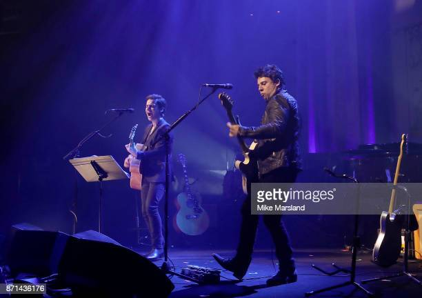 Kelly Jones and Adam Zindani of Stereophonics perform on stage at the SeriousFun London Gala 2017 at The Roundhouse on November 7 2017 in London...