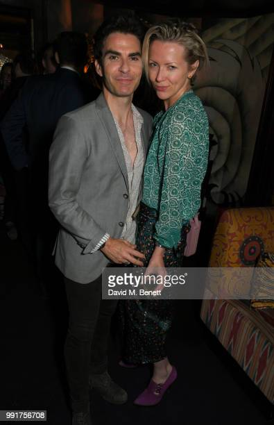 "Kelly Jones and Jakki Healy attend the after party for the UK Premiere of ""Swimming With Men' at Loulou's on July 4, 2018 in London, England."