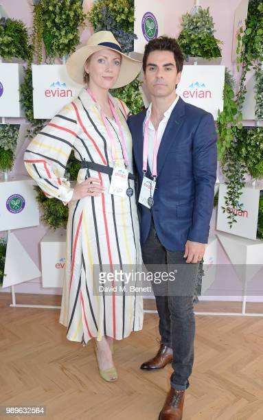 Kelly Jones and Jakki Healy attend the evian Live Young Suite at The Championship at Wimbledon on July 2, 2018 in London, England.