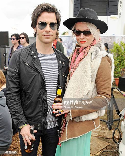 Kelly Jones and Jakki Healy attend the Ray-Ban Rooms during day two of the Isle of Wight Festival at Seaclose Park on June 23, 2012 in Newport, Isle...