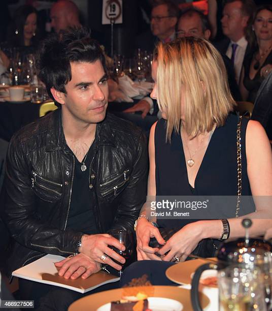 Kelly Jones and Jakki Jones during the Live Auction at The Roundhouse Gala held at the Roundhouse on March 19 2015 in London England
