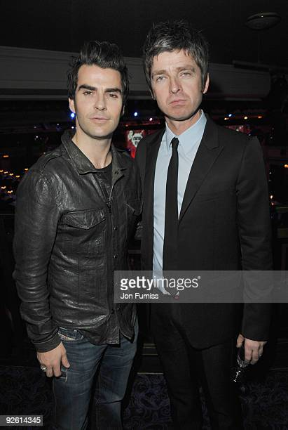 Kelly Jones from The Stereophonics and Noel Gallagher from Oasis attend the Music Industry Trusts' Awards at The Grosvenor House Hotel on November 2...