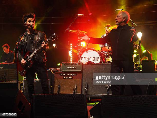 Kelly Jones of Stereophonics and Tom Jones perform during Teenage Cancer Trust 15th Anniversary Year Concert at Royal Albert Hall on March 23 2015 in...