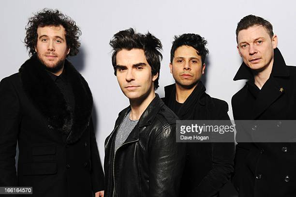 Kelly Jones Richard Jones Adam Zindani and Jamie Morrison of Stereophonics perform for a Biz Session to promote their new album 'Graffiti On The...