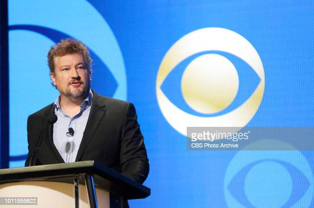 Kelly Kahl President CBS Entertainment speaks at the CBS Entertainment executive panel at the TCA Summer Press Tour 2018 at the Beverly Hilton Hotel...