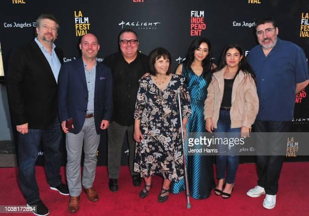 Kelly Kahl Trevor Brisbin Sean Hanish Judy Wood Aimee Garcia Marisol Brisbin and Alfred Molina attend the screening of 'Saint Judy' during the 2018...