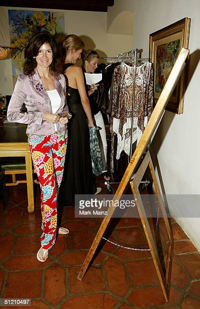 Kelly Katz wife of jeweler Martin Katz attends the Nina Morris Trunk Show at Patric Reeves' home August 21 2004 in Los Feliz California