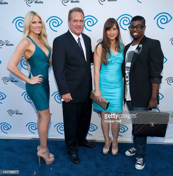 Kelly Kelly aka Barbara Barbie Blank John McKay Kellie Martin and Anthony Williams arrive for the Time Warner Cable Media's Cabletime Upfront event...