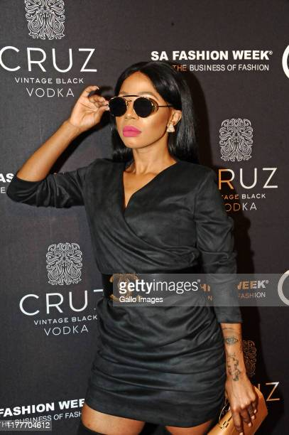Kelly Khumalo during the Cruz Vodka SA Fashion Week 2019 official opening party held at Ferguson's 5th on October 21 2019 in Sandton South Africa The...