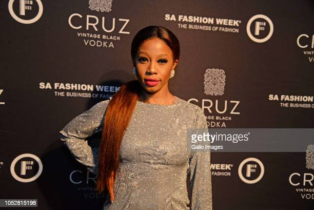 Kelly Khumalo during the Official SA Fashion Week Opening Party in association with Cruz Vodka at The Mark on October 22 2018 in Sandton South Africa...