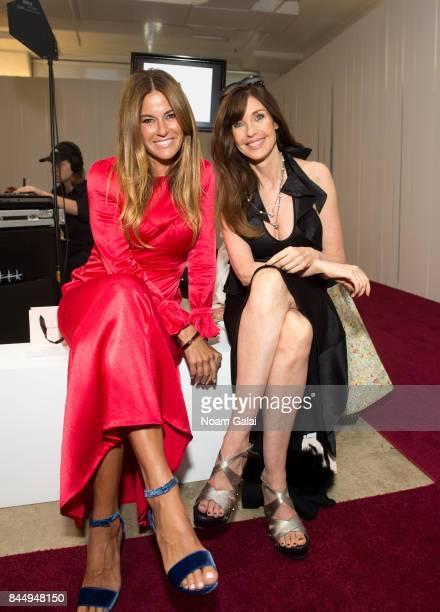 Kelly Killoren Bensimon and Carol Alt attend the Jill Stuart fashion show during New York Fashion Week on September 9 2017 in New York City