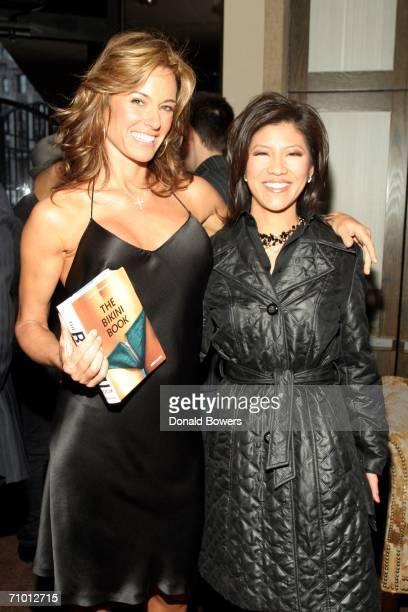 Kelly Killoren Bensimon and CBS News Anchor Julie Chen arriving as Kelly Killoren Bensimon celebrates the launch of 'The Bikini Book' at The Yard at...