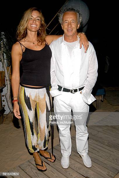Kelly Killoren Bensimon and Gilles Bensimon attend Birthday Celebration for Douglas Hannant and Santiago Gonzalez at Cain on June 11 2005