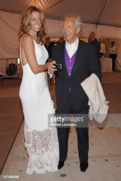 Kelly Killoren Bensimon and Gilles Bensimon during Chanel Costume Institute Gala Opening at the Metropolitan Museum of Art Departures at The...