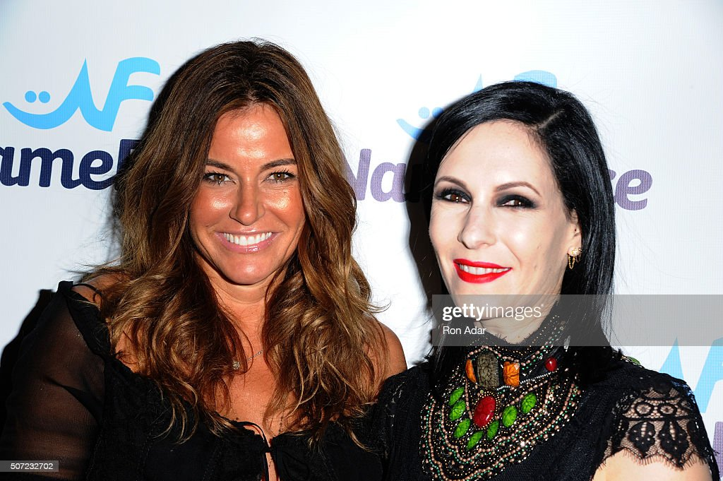 Kelly Killoren Bensimon (L) and Jill Kargman attend the NameFace.com Launch at No. 8 on January 27, 2016 in New York City.