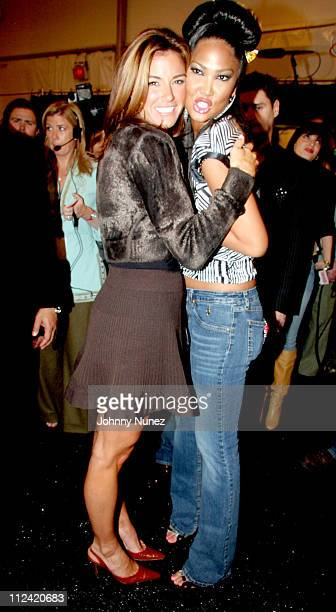 Kelly Killoren Bensimon and Kimora Lee Simmons during Olympus Fashion Week Fall 2006 Baby Phat Front Row and Backstage at Bryant Park in New York...