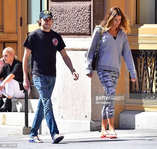 Kelly Killoren Bensimon and Nicholas Stefanov are seen in Soho on June 1 2017 in New York City
