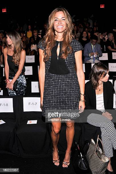 Kelly Killoren Bensimon attends the Badgley Mischka fashion show during MercedesBenz Fashion Week Spring at The Theatre at Lincoln Center on...
