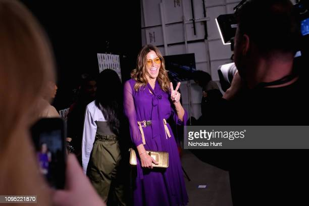 Kelly Killoren Bensimon attends the Badgley Mischka front row during New York Fashion Week The Shows at Gallery I at Spring Studios on February 7...