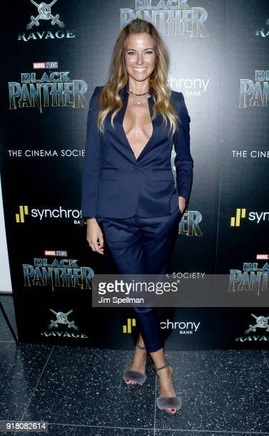 Kelly Killoren Bensimon attends the screening of Marvel Studios' Black Panther hosted by The Cinema Society with Ravage Wines and Synchrony at Museum...