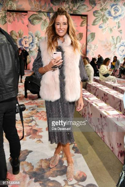 Kelly Killoren Bensimon attends the Zimmermann fashion show during New York Fashion Week The Shows at Gallery I at Spring Studios on February 12 2018...