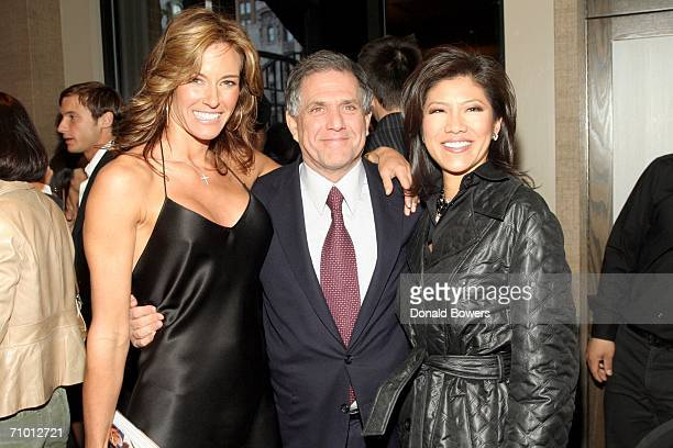 Kelly Killoren Bensimon CEO of CBS Corportion Les Moonves and CBS News Anchor Julie Chen arriving as Kelly Killoren Bensimon celebrates the launch of...