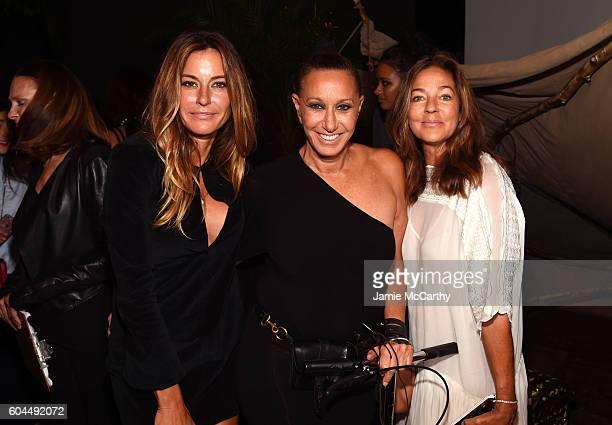 Kelly Killoren Bensimon Donna Karan and Kelly Klein attend New York Fashion Week September 2016 at Urban Zen on September 13 2016 in New York City