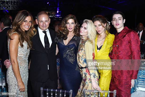 Kelly Killoren Bensimon John Demsey Stephanie Seymour Theodora Richards Stella Schnabel and Harry Brant attend the 7th Annual amfAR Inspiration Gala...