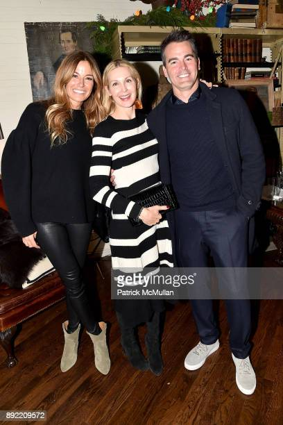 Kelly Killoren Bensimon Kelly Rutherford and Andrew Freesmeier attend Ken Fulk's 'OldFashioned TequilaFueled Holiday Party' at Ken Fulk Tribeca on...
