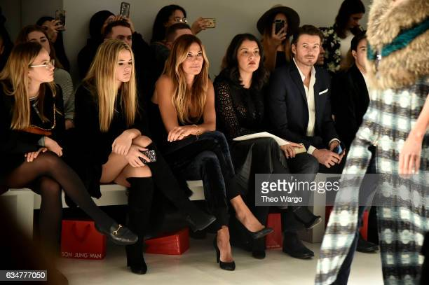 Kelly Killoren Bensimon Keytt Lundqvist and Alex Lundqvist attend the Son Jung Wan collection during New York Fashion Week The Shows at Gallery 3...