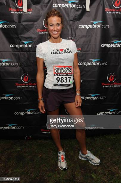 Kelly Killoren Bensimon of Real Housewives of NYC attends the Rock 'n' Roll Half Marathon on August 1 2010 in Chicago Illinois