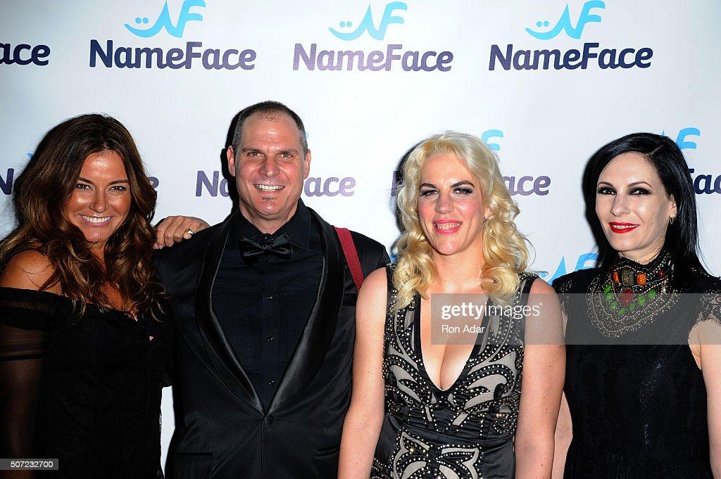 Kelly Killoren Bensimon, Photographer Steve Eichner, Developer Daniela Kirsch and Jill Kargman attend the NameFace.com Launch at No. 8 on January 27, 2016 in New York City.