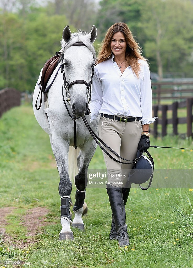 Kelly Bensimon Rides Her Horse At The Old Westbury Equestrian Center