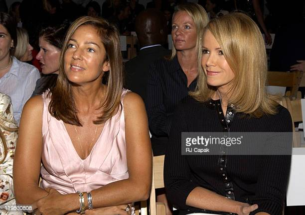 Kelly Klein and Blaine Trump during MercedesBenz Fashion Week Spring 2004 Badgley Mischka Front Row and Backstage at Josephine Tent Bryant Park in...