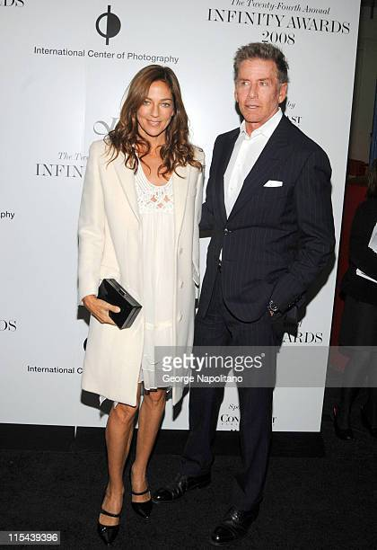 Kelly Klein and Calvin Klein arrive at the International Center Of Photography 24th Annual Infinity Awards on May 12 2008 at Pier Sixty Chelsea Piers...