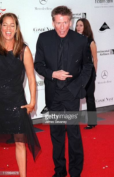 Kelly Klein and Calvin Klein during Activist Arrested for Throwing a Pie at Calvin Klein at the 20th CFDA Fashion Awards at Avery Fisher Hall Lincoln...