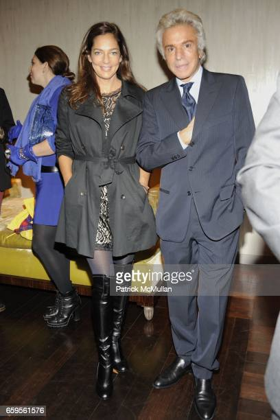 Kelly Klein and Giancarlo Giammetti attend Gwyneth Paltrow and VBH's Bruce Hoeksema Host Cocktail Party for Valentino The Last Emperor at VBH on...