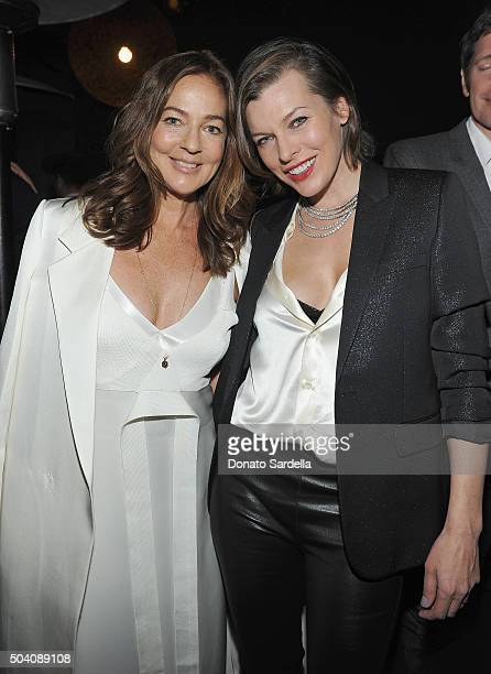 Kelly Klein and Milla Jovovich attend Photographs by Kelly Klein Hosted by Barry Diller and Jason Weinberg at BOA Steakhouse on January 8 2016 in...