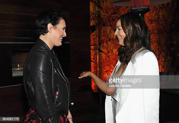 Kelly Klein and Rumer Willis attend Photographs by Kelly Klein Hosted by Barry Diller and Jason Weinberg at BOA Steakhouse on January 8 2016 in West...