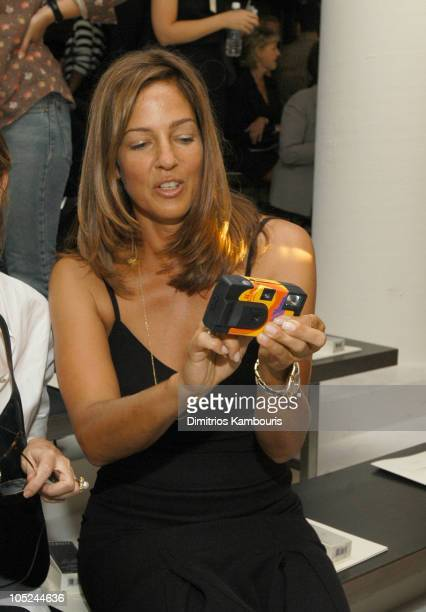 Kelly Klein during MercedesBenz Fashion Week Spring 2004 Calvin Klein Front Row at 450 W 15th Street in New York City New York United States