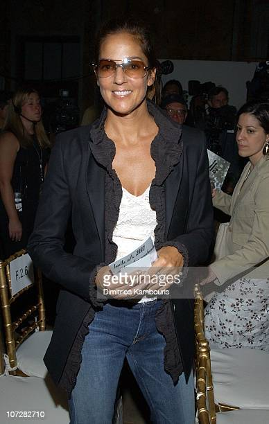 Kelly Klein during MercedesBenz Fashion Week Spring Collections 2003 Luella Bartley Show Front Row at Bryant Park in New York City New York United...